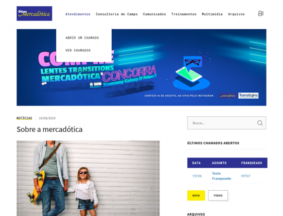 Intranet Óticas Mercadótica