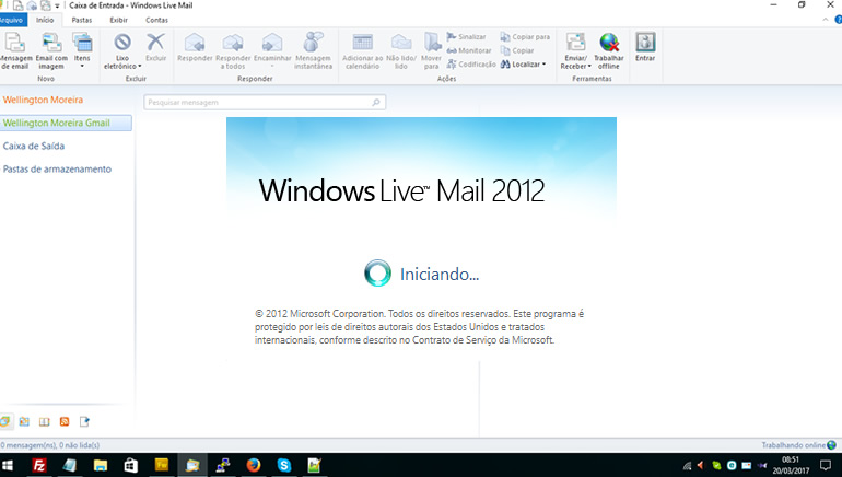 >Configurando o Windows Live Mail para acesso POP
